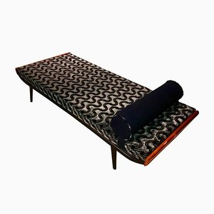 Metal and Teak Cleopatra Daybed by Dick Cordemeijer for Auping, 1950s