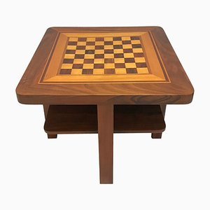 Bauhaus Walnut and Maple Veneer Chess Table, 1930s