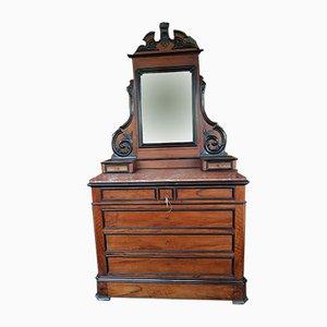 Dutch Wilhelm III Dresser with Mirror, 1840s