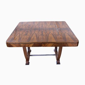 Art Deco Walnut Veneer Expandable Table, 1930s