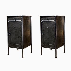 Industrial Bedside Tables, 1950s, Set of 2