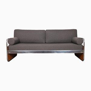 Sofa mit Gestell aus Metallrohr, 1930er