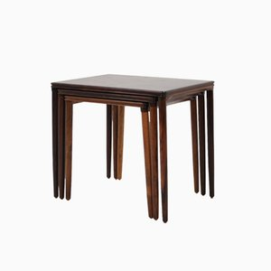 Rosewood Nesting Tables by EW Bach for Mobelfabriken Toften, 1960s