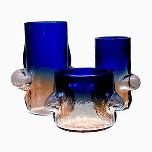 Vasi Bolle di Toni Zuccheri per VeArt, anni '70, set di 3