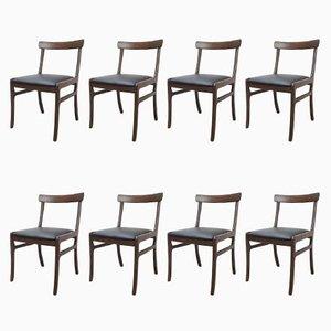 Dänische Rungstedlund Stühle von O. Wanscher für Poul Jeppesen Møbelfabrik, 1960er, 8er Set
