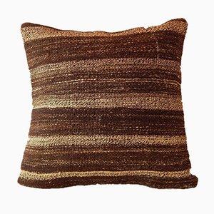 Brauner handgefertigter Kelim Kissenbezug von Vintage Pillow Store Contemporary