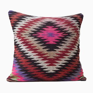 Pink Diamond Print Kilim Pillow Cover from Vintage Pillow Store Contemporary
