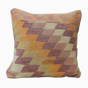 Federa Kilim in lana color pastello di Vintage Pillow Store Contemporary