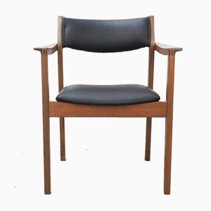 Mid-Century Danish Teak & Leather Armchair, 1970s