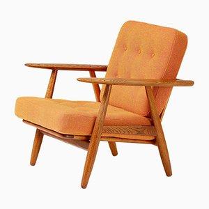 Vintage GE-240 Cigar Chair mit Gestell aus Eiche von Hans J. Wegner für Getama, 1950er