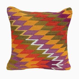 Federa Kilim arancione di Vintage Pillow Store Contemporary
