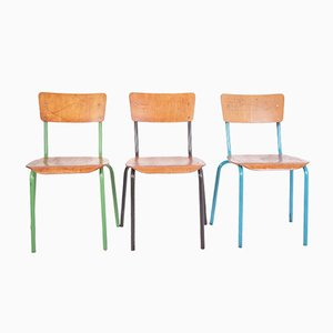 Vintage Side Chairs, 1980s, Set of 3