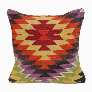 Federa Kilim anatolica in lana di Vintage Pillow Store Contemporary