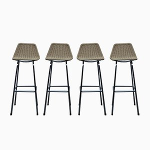 Vintage Bar Stools by Dirk van Sliedregt for Rohé Noordwolde, Set of 4