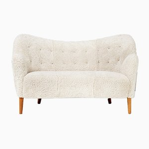 Model 185 Sheepskin Sofa by Nanna Ditzel for Slagelse Møbelværk, 1952