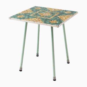 Tavolino Mid-Century quadrato con mosaico
