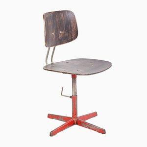 Chaise de Bureau Industrielle Vintage