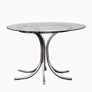 Mid-Century Italian Steel Table, 1960s