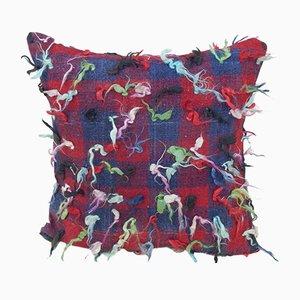 Handgewebter mehrfarbiger Flokati Kissenbezug von Vintage Pillow Store Contemporary