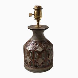 Lampada da tavolo vintage in gres marrone di Bitossi, anni '60