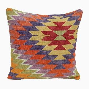 Federa multicolore fatta a mano di Vintage Pillow Store Contemporary