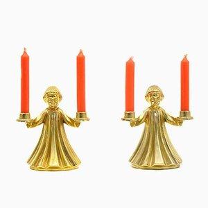 Vintage Kerzenhalter, 1970er, 2er Set