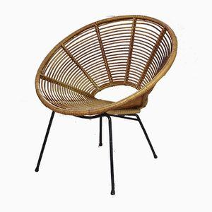 Vintage Satellite Stuhl aus Korbgeflecht