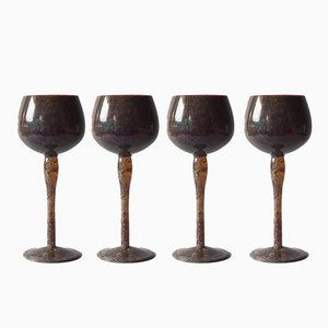 Mimoza Glasses from Hortensja' Glasshouse, 1970s, Set of 4