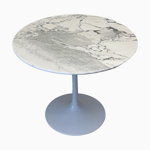 Vintage Marble Tulip Table by Eero Saarinen for Knoll International, 1970s