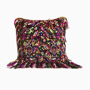 Garnet & Bordeaux Velvet Folktales Cushion from House of Ita