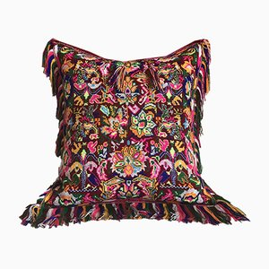 Amaranth & Velvet Folktales Cushion from House of Ita