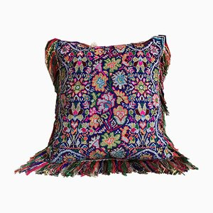Blue Birds & Green Velvet Folktales Cushion from House of Ita