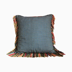 Blue Birds & Tartan Folktales Cushion from House of Ita