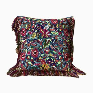 Turquoise & Lamé Folktales Cushion from House of Ita