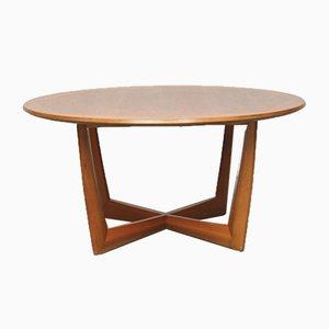 Round Scandinavian Coffee Table, 1960s