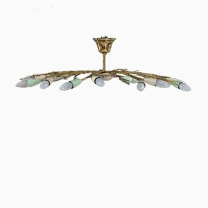 Lámpara de araña vienesa Mid-Century de Rupert Nikoll, años 50