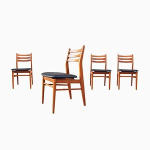 French Scandinavian Style Chairs, 1960s, Set of 4