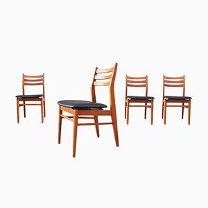 Sedie in stile scandinavo, Francia, anni '60, set di 4