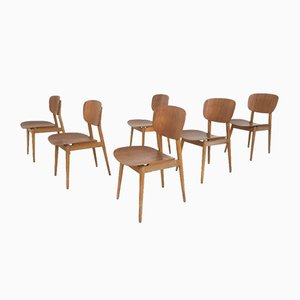Plywood Dining Chairs, 1960s, Set of 6