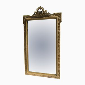 Large 19th Century Wood & Gilded Stucco Mirror