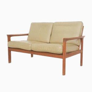 Dänisches 2-Sitzer Sofa aus Leder von Sven Ellekaer für Komfort, 1960er
