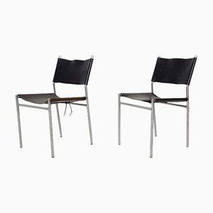 Niederländische SE06 Esszimmerstühle aus Leder von Martin Visser für 't Spectrum, 1967, 2er Set