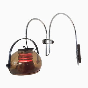 Lámpara de pared holandesa vintage de plexiglás, años 60