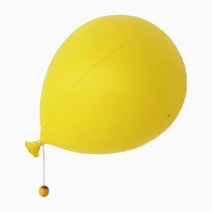 Lámpara Balloon italiana de plástico amarillo de Yves Christin para Bilumen, años 70