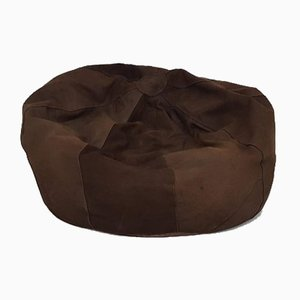 Vintage Brown Suede Bean Bag Chair, 1970s