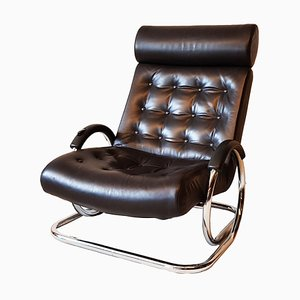 Leather Synchro Lounge Chair by Prototeam for Herman Miller, 1970s