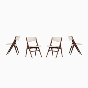 Dutch Teak Dining Chairs from WéBé, 1950S, Set of 4