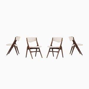 Niederländische Esszimmerstühle aus Teak von WéBé, 1950er, 4er Set