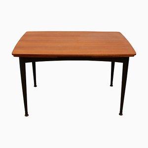 Mesa de comedor de teca, años 50