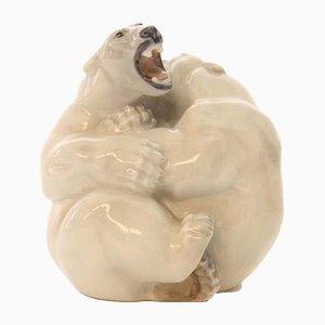 Dänische Vintage Eisbären-Figur von Knud Kyhn für Royal Copenhagen